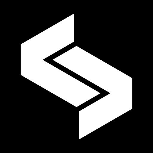 Logotipo abstracto monocromo hexagonal Transparent PNG