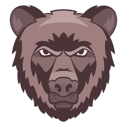 Logotipo de oso enojado