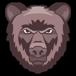 Logotipo do urso irritado