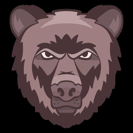 Logotipo de oso enojado Transparent PNG
