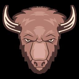 Logotipo de bisonte enojado