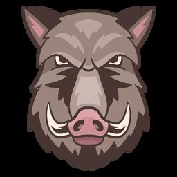 Logotipo de jabalí enojado