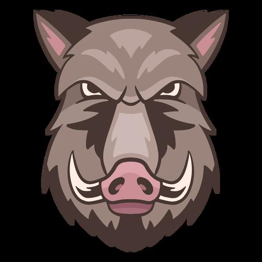 Logotipo de jabalí enojado Transparent PNG