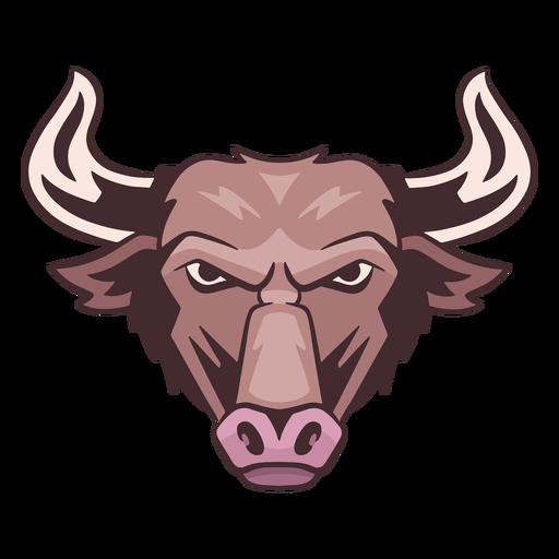 Logotipo de toro enojado