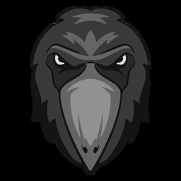 Logotipo de cuervo enojado