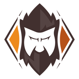Angry face beard logo