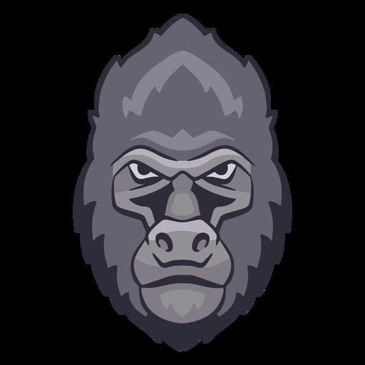 Logotipo de gorila enojado Transparent PNG