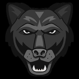 Logotipo de pantera enojada