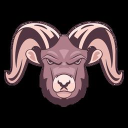 Logotipo de carnero enojado