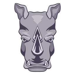 Angry rhino logo rhino