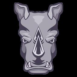 Rinoceronte enojado logo rinoceronte
