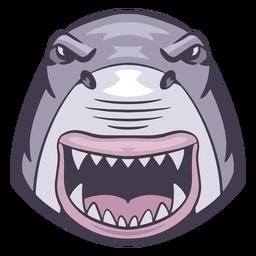 Logotipo do tubarão irritado