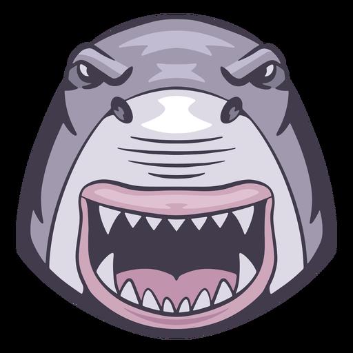 Logotipo de tibur?n enojado