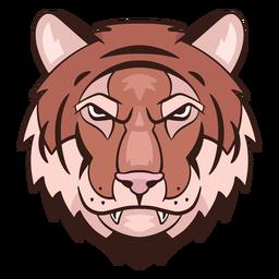 Logotipo de tigre enojado