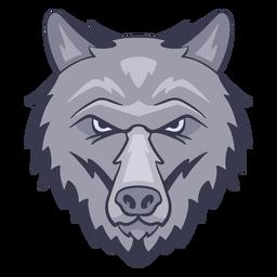 Logotipo do lobo irritado