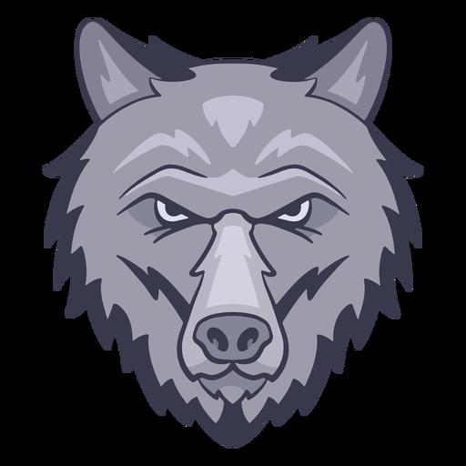 Logotipo de lobo enojado