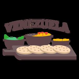 Arepa food venezuela flat