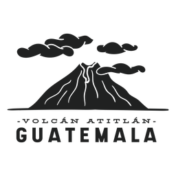 Atitlan volcano guatemala cut out
