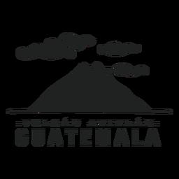 Vulcão Atitlan guatemala recortado