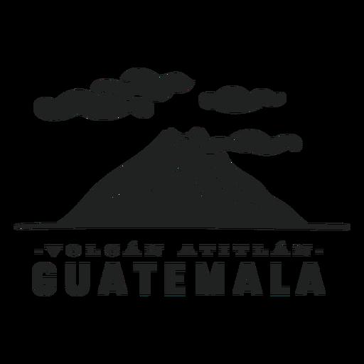 Atitlan volcano guatemala cut out