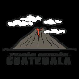 Vulcão Atitlan, guatemala plana