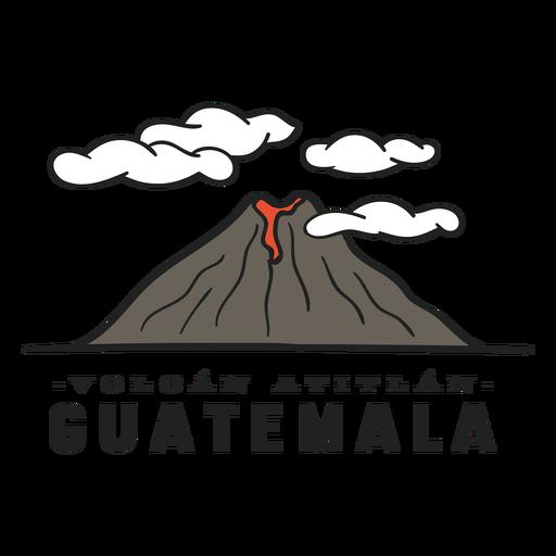 Atitlan volcano guatemala flat Transparent PNG