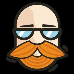 Bald face beard logo