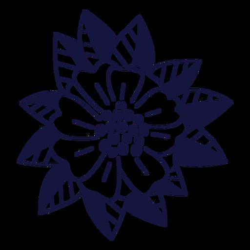 Doodle monocromo de rosa de Bayahibe