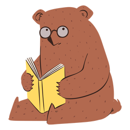 Personagem da escola de urso