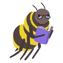 Bee studying character