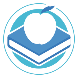 Book apple circle logo