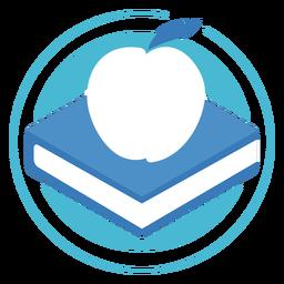 Logotipo de círculo de manzana de libro