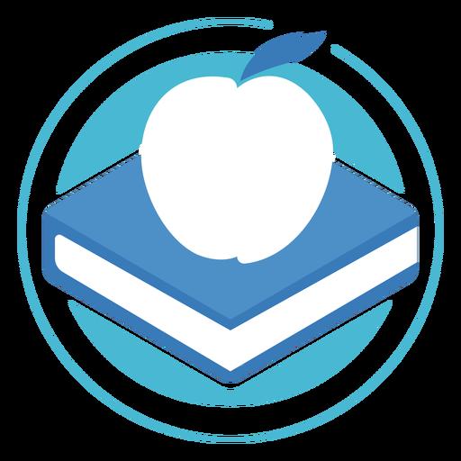 Book apple circle logo
