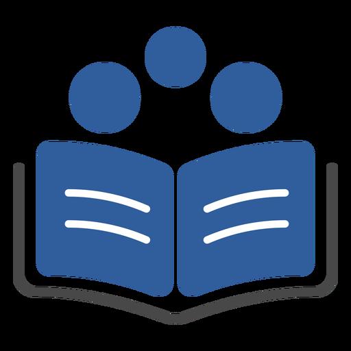 Book three circles logo Transparent PNG