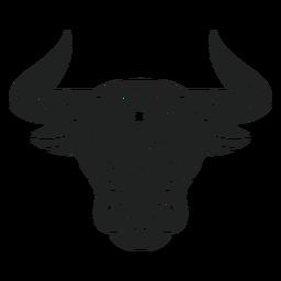 Mandala de cabeza de toro recortada