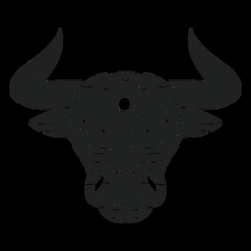 Bull head mandala cut out