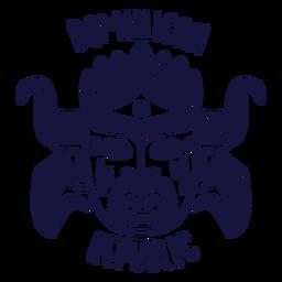 Carnival dominican republic monochrome doodle