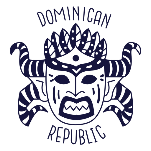 Carnival dominican republic monochrome doodle Transparent PNG