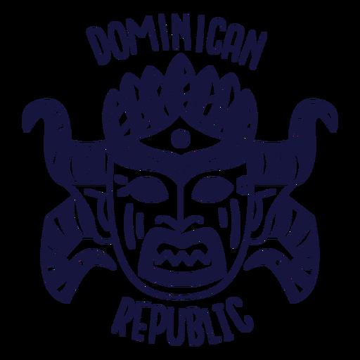 Doodle monocromo de carnaval república dominicana