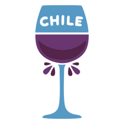 Copa de vino de Chile plana