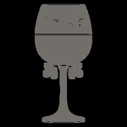 Chile wine glass monochrome
