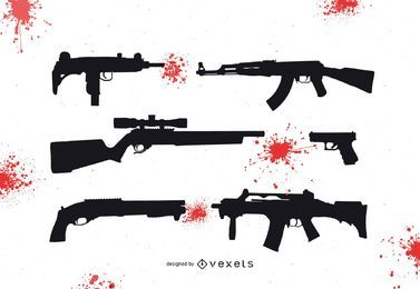 Bloody Guns free vector