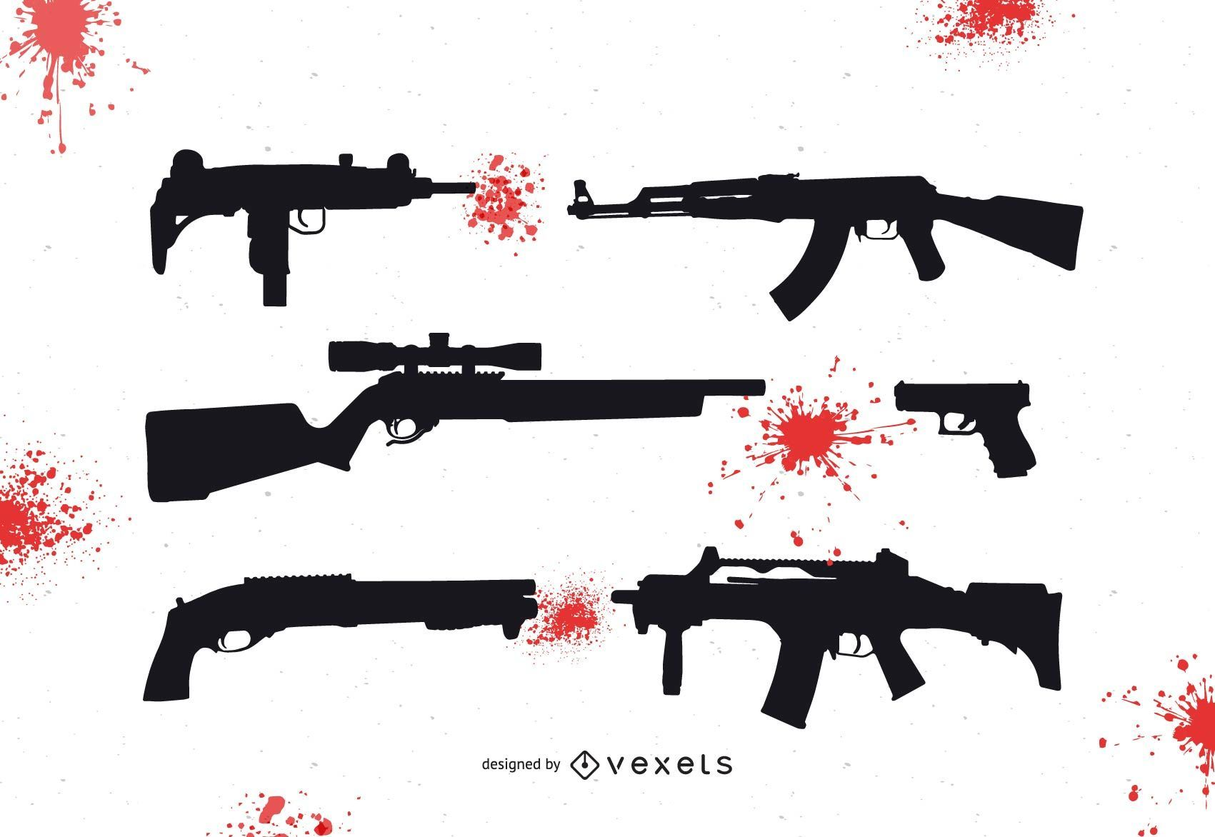 Vector de armas sangrientas