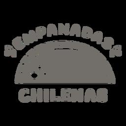 Emapanadas chilenas monocromas