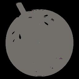 Chilean bellflower monochrome