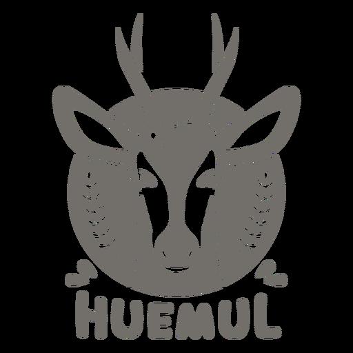 Chilean huemul monochrome