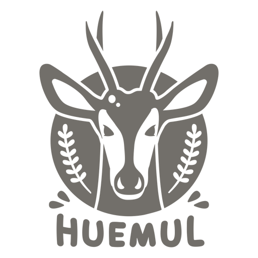 Huemul chileno monocromo
