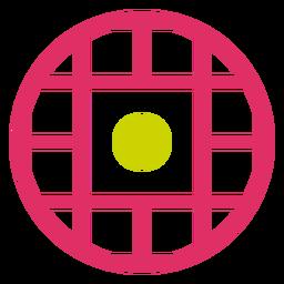 Logotipo de duotono de cuadrícula circular