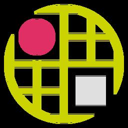 Logotipo de cuadrícula circular
