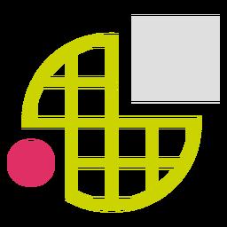 Logotipo de formas de grade circular